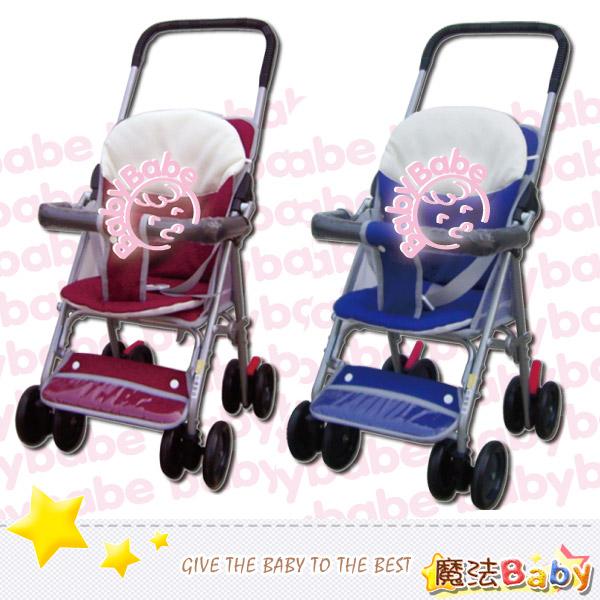 魔法Baby~台灣製造輕便型附睡墊手推車(紅.藍兩款)~嬰幼兒用品~tb503a