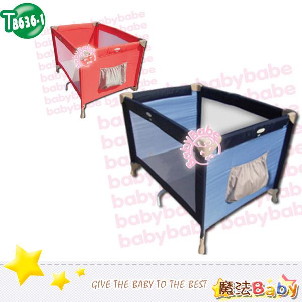 魔法Baby~標準型遊戲床(海洋藍.鮮橘兩色款)~嬰幼兒用品~嬰幼兒遊戲床~tb636