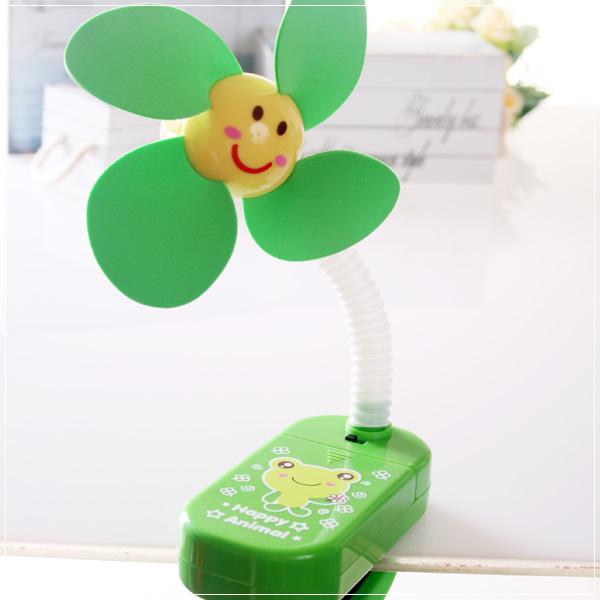 魔法Baby~嬰兒推車用安全夾式風扇(綠青蛙)~嬰幼兒用品~時尚設計~b20014_e