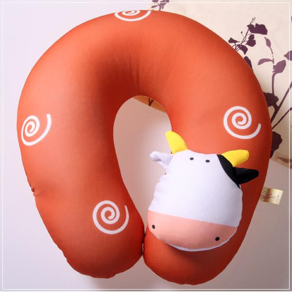 魔法Baby ~ 可愛卡通立體造型健康護頸枕/午睡枕_乳牛(成人兒童皆適用)~c0048