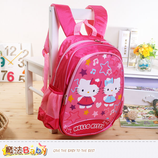 Hello Kitty兒童雙層後背包 書包 魔法Baby~ekt6738