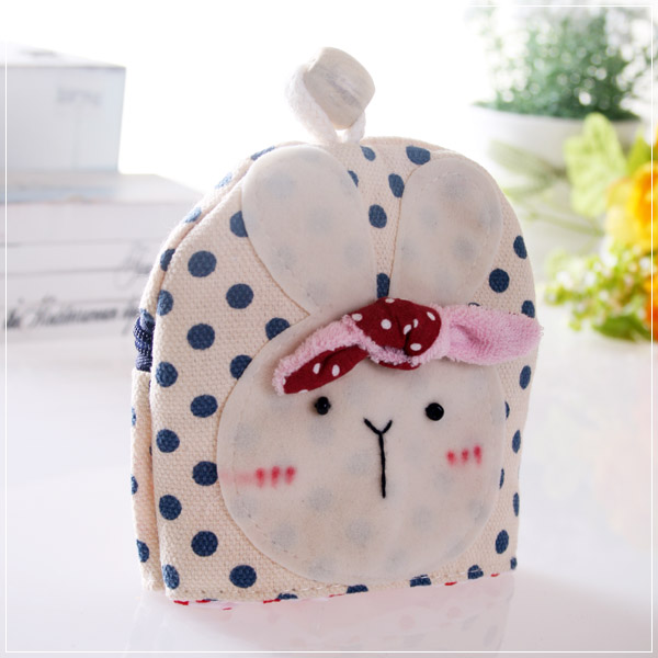 魔法Baby~日本風手工拼布鑰匙&零錢包(藍圓點)~孩童&大人用品~時尚設計~f0053