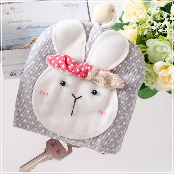 魔法Baby~日本風手工拼布鑰匙&零錢包(氣質圓點)~孩童&大人用品~時尚設計~f0055