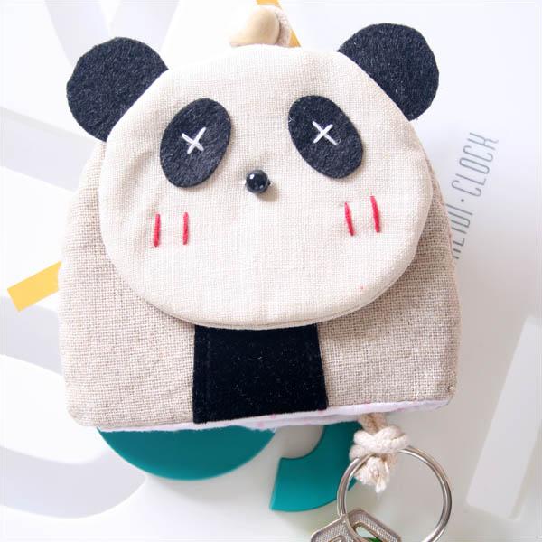魔法Baby~日本風手工拼布鑰匙(小熊貓)~孩童&大人用品~時尚設計~f0067