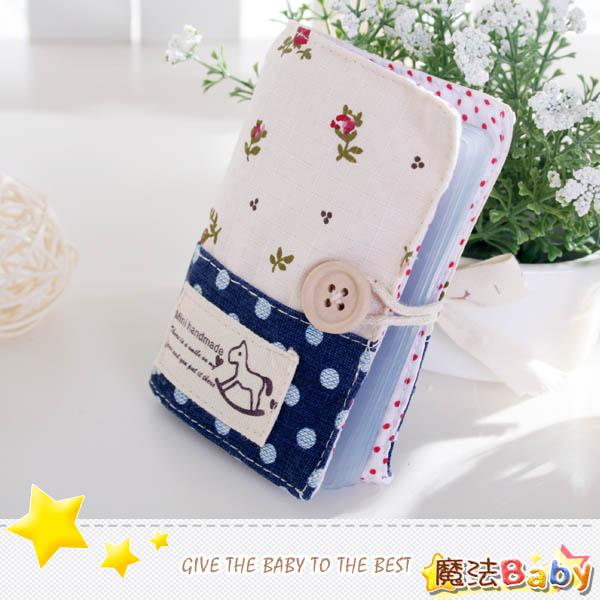 魔法Baby~手工拼布卡片存放包(小木馬/碎花)~生活雜貨~時尚設計~f0093