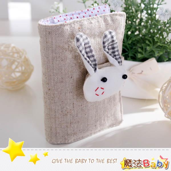 魔法Baby~手工拼布卡片存放包(格紋兔)~生活雜貨~時尚設計~f0095