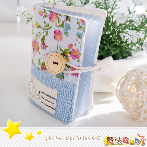 魔法Baby~手工拼布卡片存放包(小飛象/碎花)~生活雜貨~時尚設計~f0096