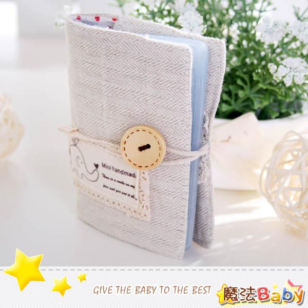 魔法Baby~手工拼布卡片存放包(小飛象/麻布)~生活雜貨~時尚設計~f0097