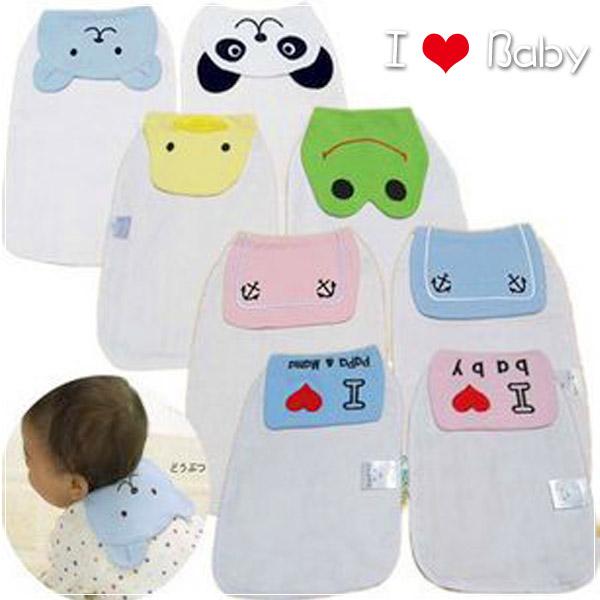 魔法Baby ~卡通設計寶寶頸背吸汗巾(2件一組 隨機出貨)~嬰幼兒用品~時尚設計童裝~k01436