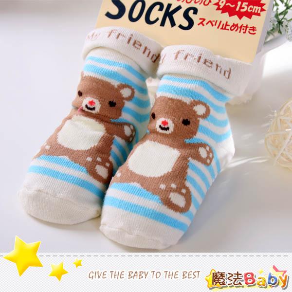 魔法Baby~日本製造寶寶防滑超Q棉襪(咖啡小熊)~嬰幼兒用品~時尚設計~k03393_3
