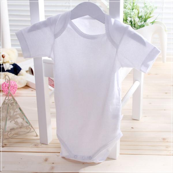 魔法Baby ~自然系純棉短袖包屁衣(平面、羅紋柔軟布兩種,採隨機出貨)~童裝~男女童裝~k06080_k