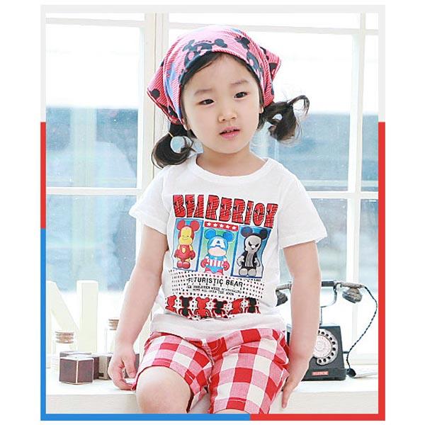 魔法Baby ~韓版短袖Bearbrick潮T~童裝~男女童裝~時尚設計童裝~k19469