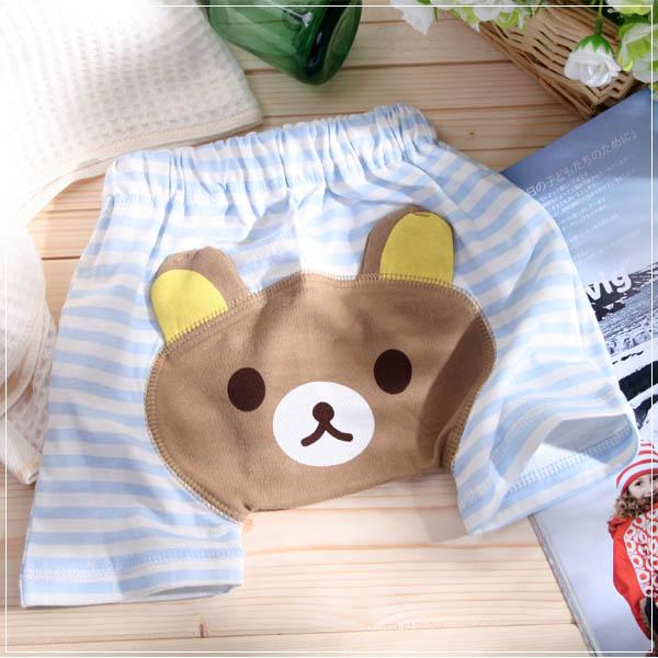 魔法Baby ~超Q造型PP褲(水藍條紋)~童裝~男童裝~時尚設計童裝~k22544