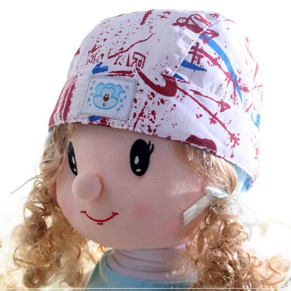 魔法Baby ~新潮海盜帽(白/紅)~兒童帽~時尚設計童裝~k22674