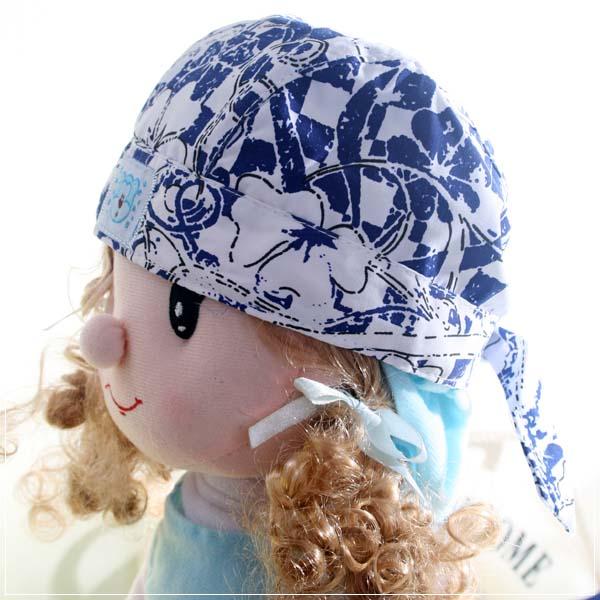 魔法Baby ~新潮海盜帽(白/藍)~兒童帽~時尚設計童裝~k22681