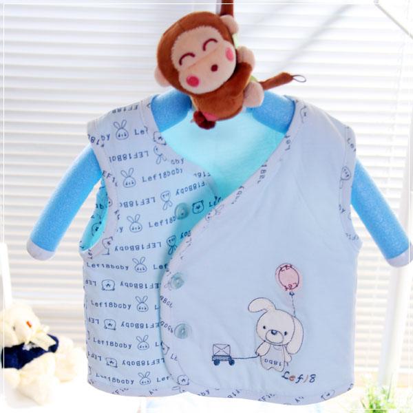 魔法Baby ~百貨專櫃正品嬰幼兒鋪棉背心外套(水藍)~童裝~男童裝~時尚設計童裝~k23121