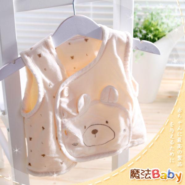 魔法Baby ~百貨專櫃正品絨毛布料背心外套(黃)~嬰兒~女童裝~時尚設計童裝~k23787