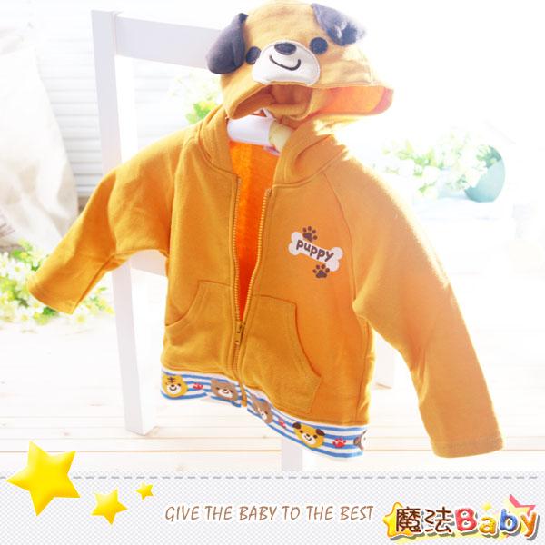 魔法Baby~日本品牌進口小童刷毛連帽厚款外套(小熊造型)~童裝~男女童裝~時尚設計童裝~k25088