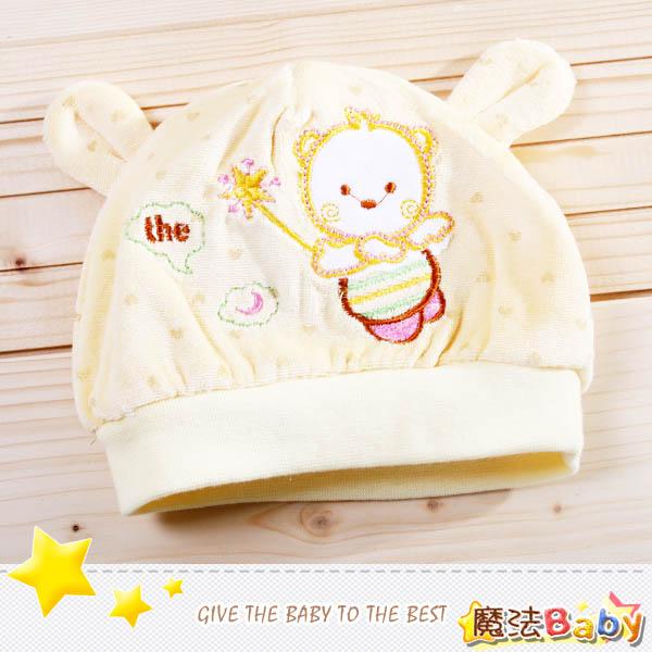 魔法Baby~嬰幼兒細絨布帽(米色)~嬰幼兒用品~時尚設計童裝~k25187_c