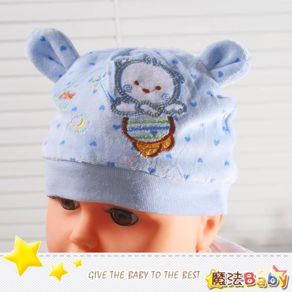 魔法Baby~嬰幼兒細絨布帽(水藍)~嬰幼兒用品~時尚設計童裝~k25187_d