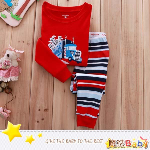 魔法Baby ~NK_truck款純綿長袖居家套裝~套裝~男童裝~時尚設計童裝~k25439
