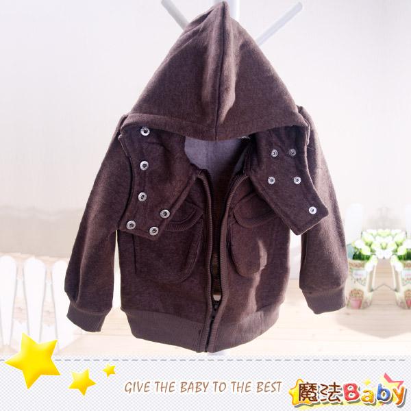 魔法Baby~防風護脖內刷毛連帽外套~DODOMO系列~時尚設計童裝~k26160