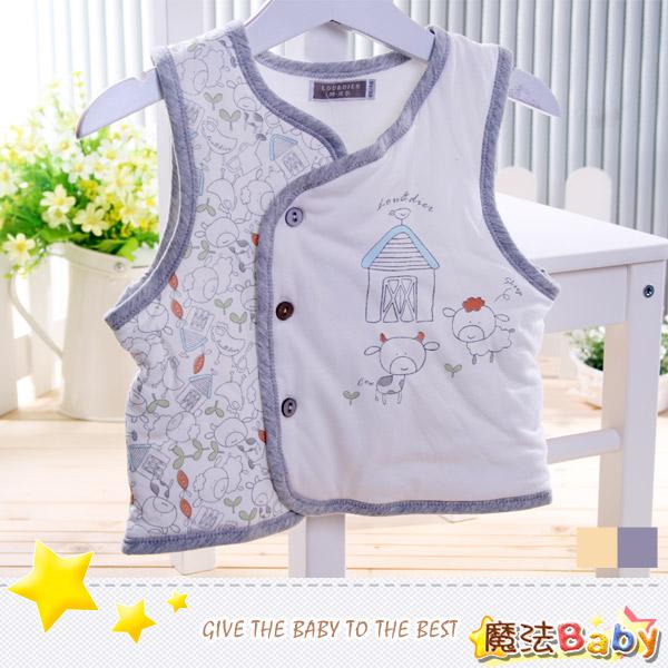 魔法Baby~百貨專櫃正品鋪棉背心外套(卡其邊.銀灰邊)~男女童裝~時尚設計童裝~k26238