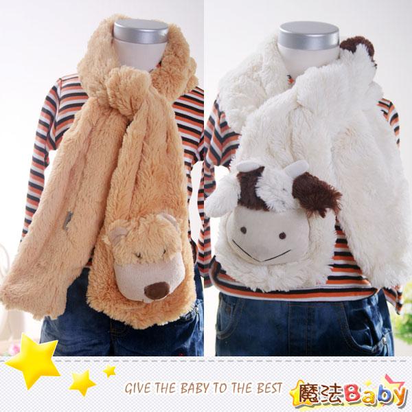 魔法Baby~仿兔毛超保暖大圍巾(白羊、駝獅子共二款)~嬰幼兒用品~時尚設計童裝~k26740