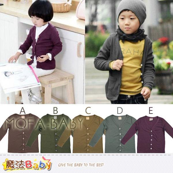【魔法Baby】薄針織螺紋布開襟外套(A.B.C.D.E)~男女童裝~k29185