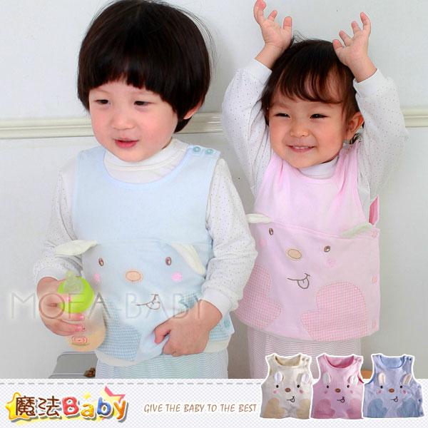【魔法Baby】百貨專櫃正品LE18品牌~立耳小兔側開背心外套(粉.藍.黃)~男女童裝~k29413