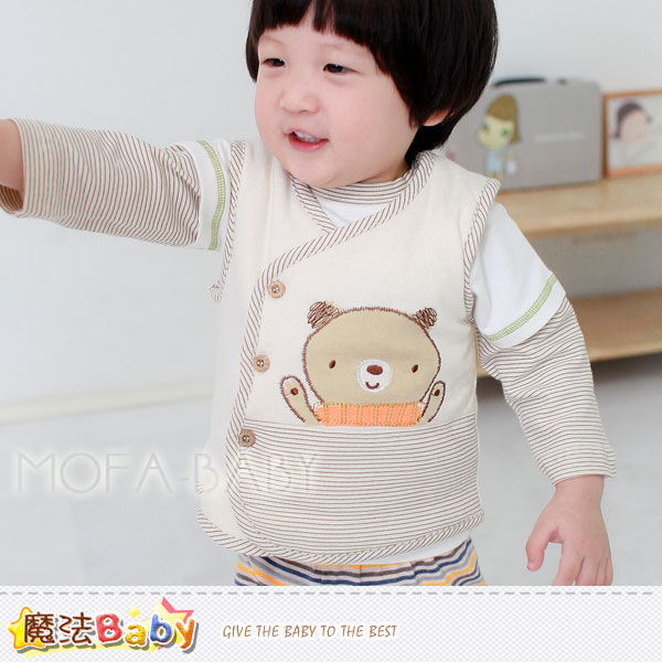 【魔法Baby】百貨專櫃正品LE18品牌~小熊舖棉背心外套~男女童裝~k29437