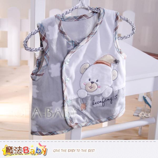 【魔法Baby】百貨專櫃正品LE18品牌~小熊細雪絨背心外套(純灰.紫灰隨機出貨)~男女童裝~k29536