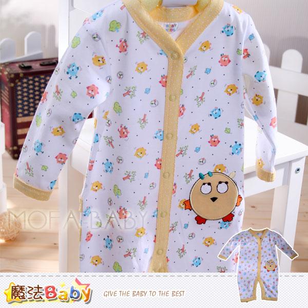 魔法Baby~美國設計繽紛小雞女寶寶長袖連身衣/包屁衣~女童裝~k30068