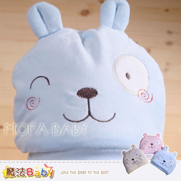 【魔法Baby】厚鋪棉極暖可愛寶寶帽(藍.黃.粉)~嬰幼兒用品~k32383
