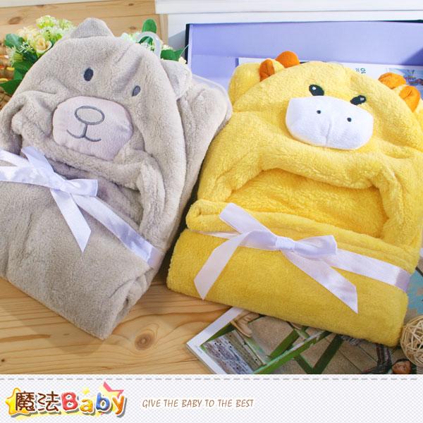澡巾 嬰兒包巾 柔舒絨造型嬰兒毯(A鹿.B熊)  嬰幼兒用品 魔法Baby~k37777