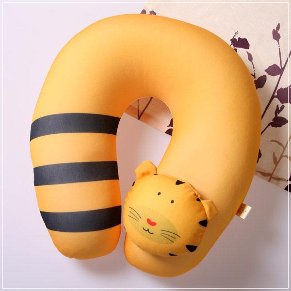 魔法Baby ~ 可愛卡通立體造型健康護頸枕/午睡枕_老虎(成人兒童皆適用)~c0046