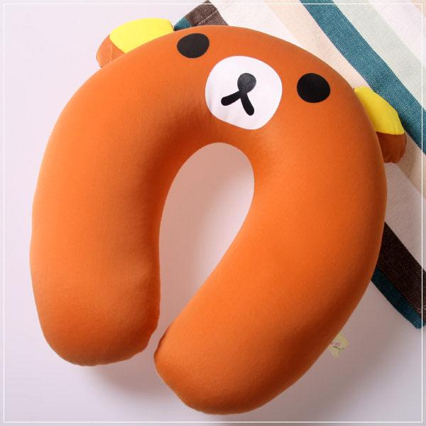 魔法Baby ~ 可愛卡通立體造型健康護頸枕/午睡枕_小熊(成人兒童皆適用)~c0045