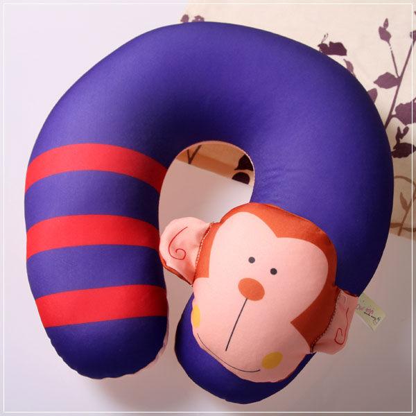 魔法Baby ~ 可愛卡通立體造型健康護頸枕/午睡枕_猴子(成人兒童皆適用)~c0047