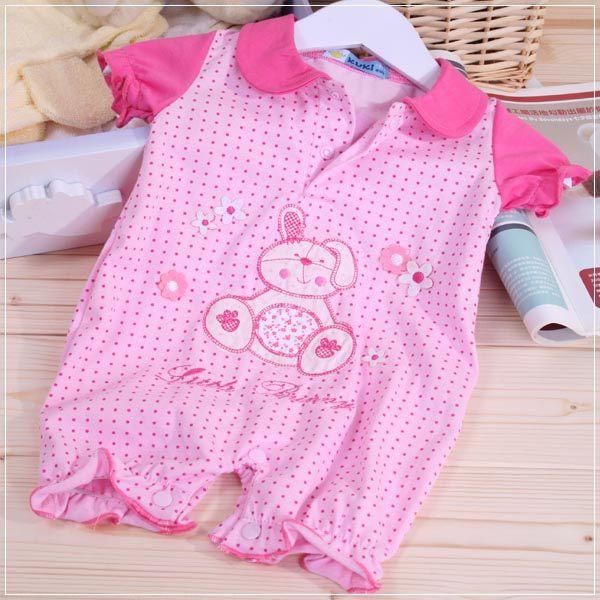 魔法Baby ~KUKI粉紅兔包屁衣~童裝~女童裝~時尚設計童裝~k22094
