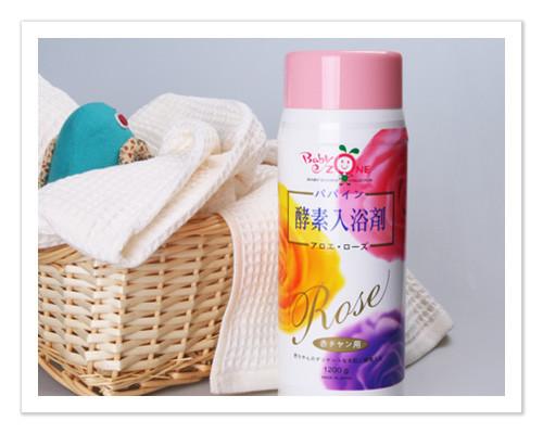 ★ 魔法Baby ★【Baby Zone 寶貝特區日本進口玫瑰酵素入浴劑(1200g)☆沐浴用品☆b714212】