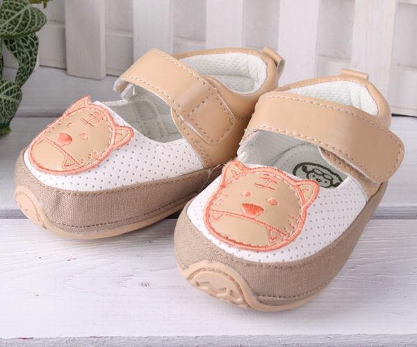 ★ 魔法Baby ★【KUKI 酷奇可愛虎舒適寶寶鞋☆男童鞋☆s1081】時尚設計童鞋(咖)