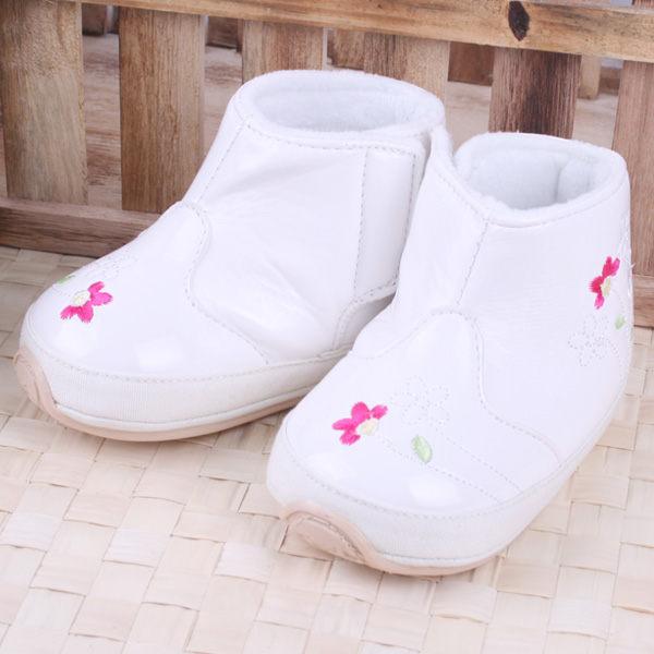 ★ 魔法Baby ★【KUKI 酷奇清新可人寶寶鞋/高筒鞋☆女童鞋☆s1999】時尚設計童鞋(白)
