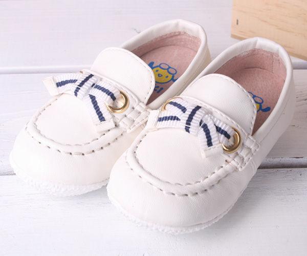 ★ 魔法Baby ★KUKI 酷奇時尚小紳士柔舒寶寶鞋/休閒鞋☆男童鞋☆s2910_白
