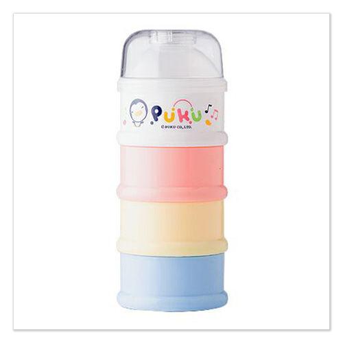 ★ 魔法Baby ★【PUKU藍色企鵝彩色四層奶粉盒☆哺育用品☆p11000】