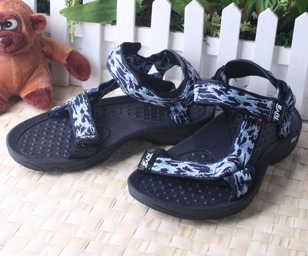 ★ 魔法Baby ★【KUKI 酷奇夏日潮流織帶海灘涼鞋☆男童鞋☆s1029】時尚設計童鞋(藍)