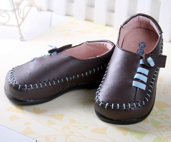 ★ 魔法Baby ★KUKI 酷奇時尚帥氣小紳士柔舒休閒鞋☆男童鞋☆s3283_咖