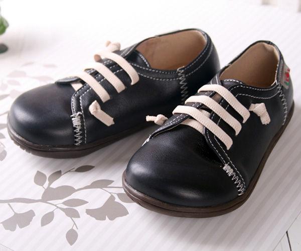 ★ 魔法Baby ★【KUKI 酷奇小紳士帥氣柔舒休閒鞋☆男童鞋☆s1654】時尚設計童鞋(黑)