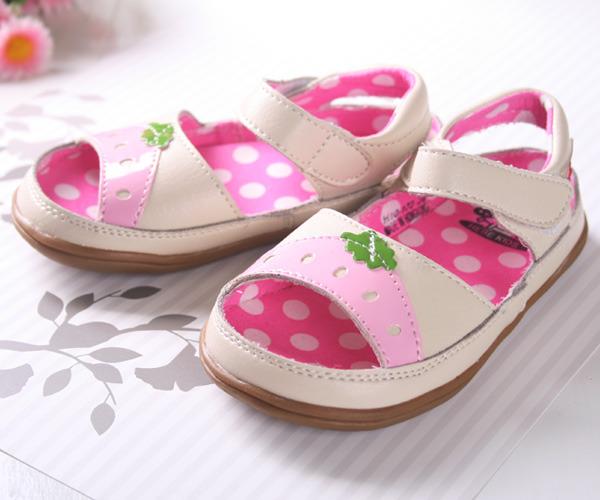 ★ 魔法Baby ★【KUKI 酷奇清新甜美柔舒小童涼鞋☆女童鞋☆s2637】時尚設計童鞋(粉紅)