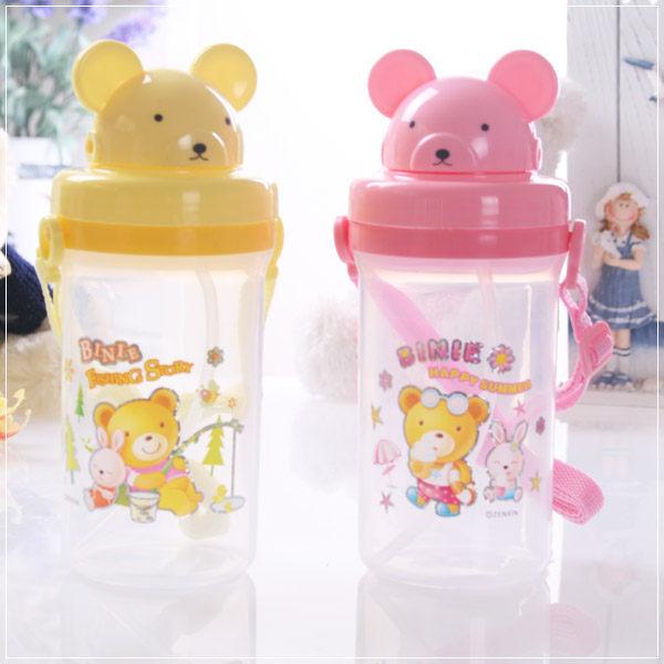 魔法Baby ~幼兒揹帶式吸管水壺可愛小熊造型~c0035