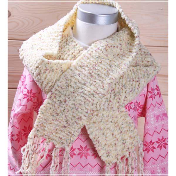 魔法Baby ~日本進口毛線純手工編織女童圍巾~外出用品~k00712 ~c